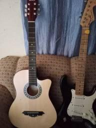 Guitarra e violão e caixa é 1 cabo.