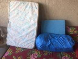 Berço Burigotto + colchão + almofada anti-refluxo