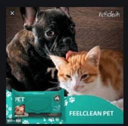Lenço umidecico cão e gato