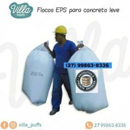 Fardo de Flocos de EPS (Isopor Flocado) - Poliestireno Expandido - 600 Lt