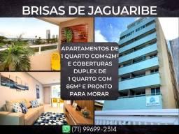 Brisas de Jaguaribe, 1 quarto em 42m² com 1 vaga degaragem em Jaguaribe