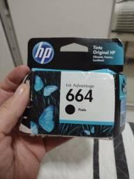 Cartucho HP 664, preto, novo. Nunca utilizado.