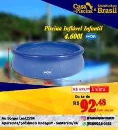 Piscina inflável infantil 4600L