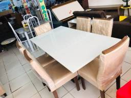 Conjunto de mesa 6 cadeiras 100%MDF
