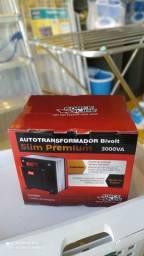 Autotransformador 3000VA Bivolt Slim Premium