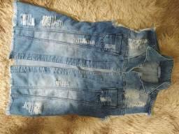 Blazer/jaqueta jeans feminino