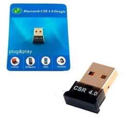 Adaptador Bluetooth 4.0  plug&play USB PC Computador Notebookó R$40