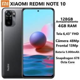 Xiaomi Redmi note 10 4/128 Gray Global Lacrado (90 dias de garantia)