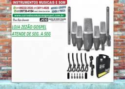 Kit de 7 microfones para bateria Arcano AR-GS7 troco ou parcelo