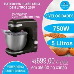 Batedeira Planetária 5 litros 750W