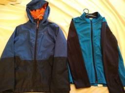 2 casacos Decathlon 10 anos