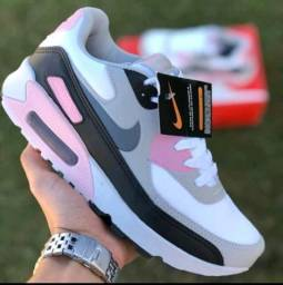 Air Max 90 Feminino Rosa ,Confortavel Tenis Nike branco e rosa ,tamanho 38