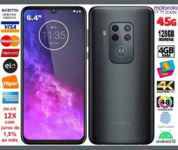 "Motorola One Zoom 128GB Octacore, 4GB Ram, Tela 6.4"", 4Cam 48MP, Noviss, Cx, NF, Gar, Trc"