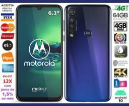 """Moto G8 Plus 4G Octa Core 64GB, Tela de 6.3"""", Tri Câm 48MP, Novo, Caixa, NF, Gar, Troco"""