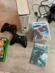 Microsoft Xbox 360 + Controles e Jogos
