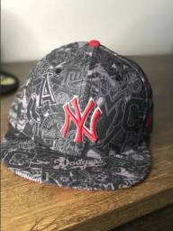 Bonés New Era Nyc 5950 50Fifty Aba Reta New York Game Cap Fechado - New Era 7 1/2