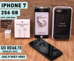 iPhone 7 256gb Seminovo (Matt Black)