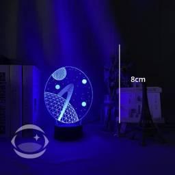 Luminárias de Acrílico Holograma - Controle Remoto - USB