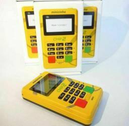 Máquina de cartão com chip