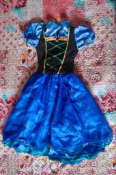 Vestido Ana Frozen Elza Elsa Anna