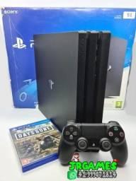 PS4 Pro 1TB / 1 Controle Original / Caixa / 1 Jogo / Impecável