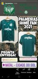 Camisa Oficial Palmeiras Home Fan 2021