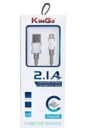 Cabo Usb iPhone Lightning em Metal Kingo