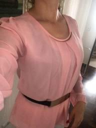 Blusa social rosa belíssima