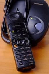 Telefone sem fio Panasonic modelo KX-TG2815LB - 2.4GHz - Digital Gigarange -Preto
