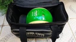 Bola de boliche com bolsa e sapato Profissional - Importado Japão