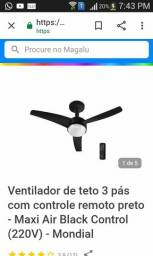 VENTILADOR DE TETO COM CONTROLE