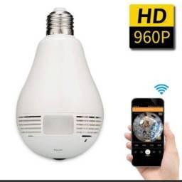 Lâmpada Espiã Câmera IP Wi-Fi hd panorâmica 360°