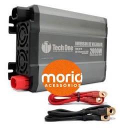 Inversor Tech One 2000W 12V para 110V Conversor Tomada USB