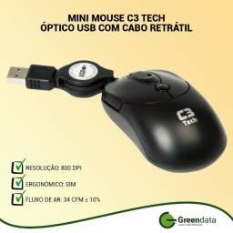 Mini Mouse C3 Tech Óptico USB com cabo retrátil