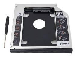 Case Caddy Hd Ssd Sata Adaptador Gaveta Dvd Notebook 9,5mm e 12.7 mm