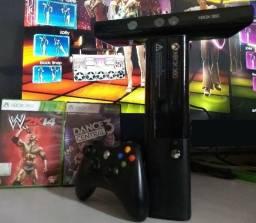 Xbox top completo com dance central 3 aceito cartao