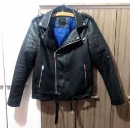 Jaqueta de couro estilo biker