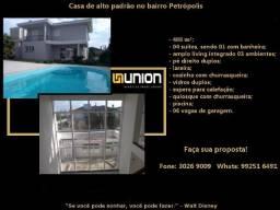 Oferta Imóveis Union! Residência nova de Alto Padrão no Petrópolis com 488 m² !