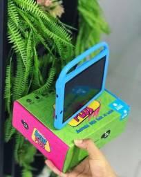 """Tablet com capa DL Kids Plus 7"""" 8GB Azul Promoção"""