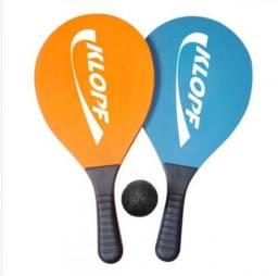 Kit Frescobol Klopf 3510 - Com 2 Raquetes De Mdf E 1 Bola