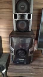 Som Sony 900 wats 6 caixas