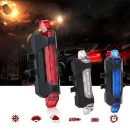 Lanterna traseira recarregável para bike ( preço da unidade)