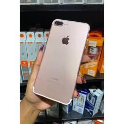 Iphone 7 plus rose 32gb e 128gb vitrine + capa e película de brinde