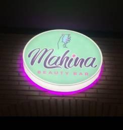 Placa com iluminação para loja/comércio (METADE do preço da nova)