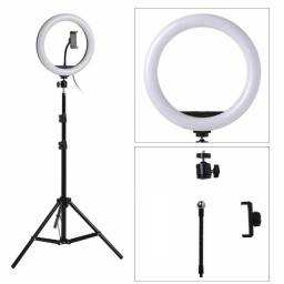 Iluminador Ring Light Led 10 Polegadas + Tripé 215cm - 82242