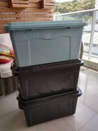 Vendo caixas organizadoras de plástico - 60 litros