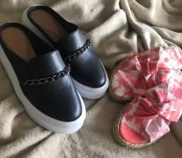 2 sandálias novas por 100