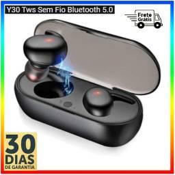 Y30 TWS Fone de ouvido sem fio Bluetooth 5.0