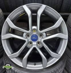 JG Roda Ford Fusion Aro 18 5x108 + Pneu 235/45 R18 Delinte , Focus Fusion