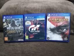 3 Jogos de PS4 - mídia física